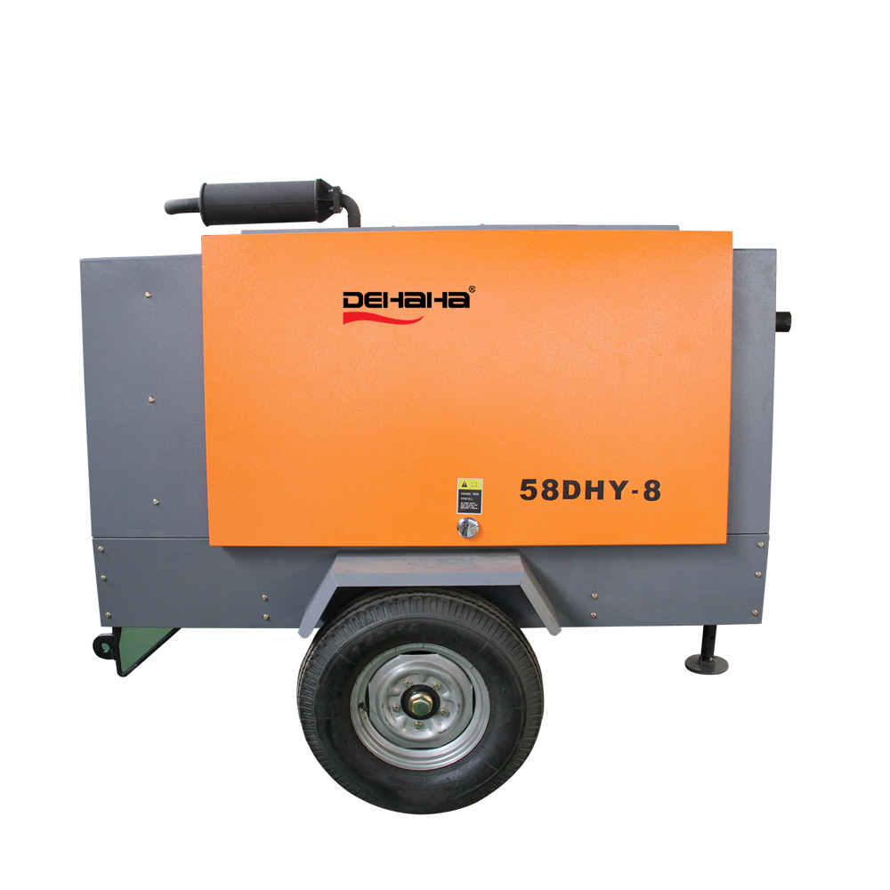 8bar 250cfm Portable Diesel Air Compressor